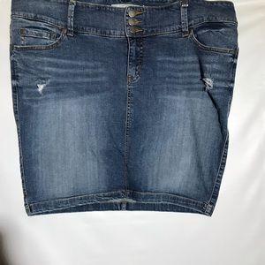 Torrid Denim Miniskirt Plus Size